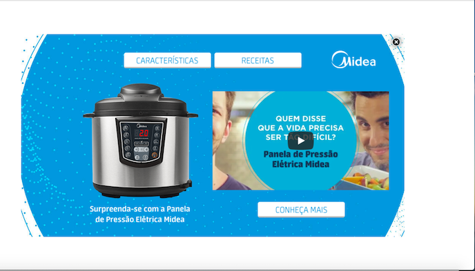 Video Foor Full Open - MIDEA